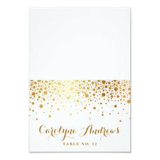 Faux Gold Foil Confetti Dots Elegant Place Cards I