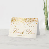 Faux Gold Foil Confetti Dots | Ivory Thank You