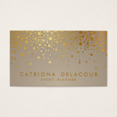 Faux Gold Foil Confetti Dots Modern Business Card at Zazzle