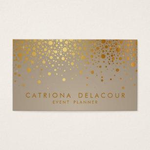 Gold foil business cards templates zazzle faux gold foil confetti dots modern business card colourmoves