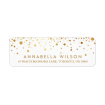 Faux Gold Foil Confetti Dots Modern Label