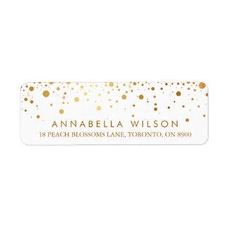 Faux Gold Foil Confetti Dots Modern Label