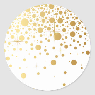 Faux Gold Foil Confetti Dots Sticker I