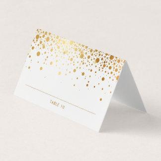 Faux Gold Foil Confetti Dots Wedding Place Cards