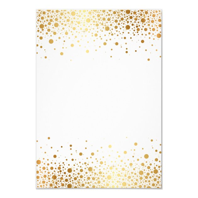 Faux Gold Foil Confetti Dots Wedding RSVP Card | Zazzle.com