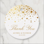 "Faux Gold Foil Confetti Dots Wedding Thank You Favor Tags<br><div class=""desc"">Faux Gold Foil Confetti Dots Wedding Thank You Favor Tags 