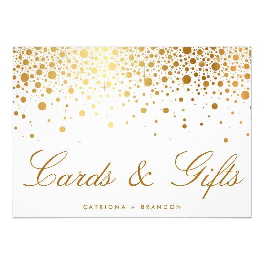 Faux Gold Foil Confetti Elegant Cards Amp Gifts Sign
