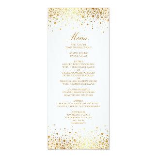 Faux Gold Foil Confetti Elegant Menu Card Personalized Announcements