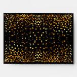Faux Gold Foil Confetti Elegant Sparkles Envelope