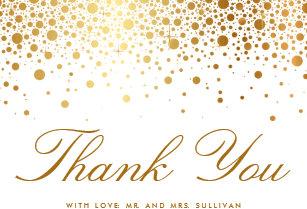 confetti thank you cards zazzle