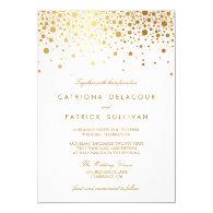 Faux Gold Foil Confetti Elegant Wedding Invitation