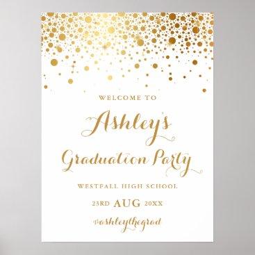 Art Themed Faux Gold Foil Confetti Graduation Party Poster