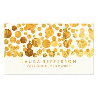 Faux Gold Foil Confetti Modern Business Card