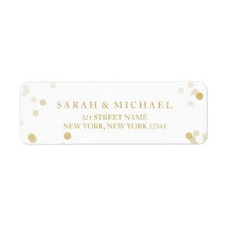 Faux Gold Foil Confetti Personalized Label
