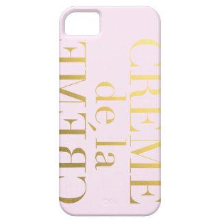 Faux Gold Foil Creme De La Creme Pink iPhone 5 Cases