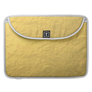 Faux Gold Foil Effect Printed Sleeve For MacBooks