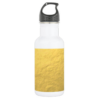 Faux Gold Foil Effect Printed Water Bottle