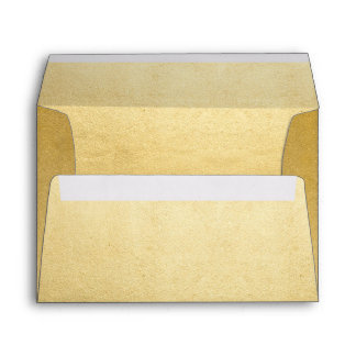 Faux Gold Foil, Elegant, Custom Envelope