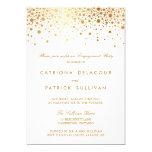 Faux Gold Foil Elegant Engagement Party Invitation at Zazzle
