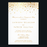 "Faux Gold Foil Elegant Engagement Party Invitation<br><div class=""desc"">Fun and whimsical invitation featuring faux confetti gold foil.</div>"