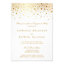 Faux Gold Foil Elegant Engagement Party Invitation