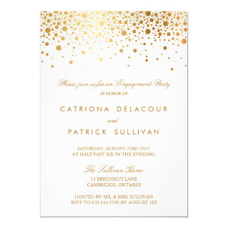 Engagement invitations announcements zazzle faux gold foil elegant engagement party invitation stopboris Images
