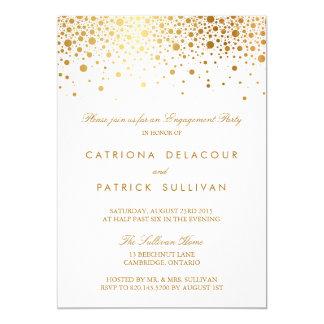 Faux Gold Foil Elegant Engagement Party Invitation  How To Word Engagement Party Invitations