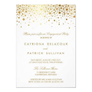 misstallulah Faux Gold Foil Elegant Engagement Party Invitation