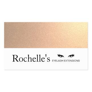 Faux Gold Foil Eyelash Extensions Salon Business Card