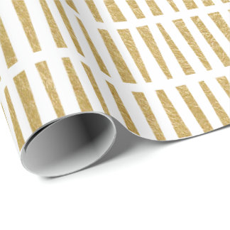 Faux Gold Foil Geometric Pattern Wrapping Paper