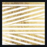 "Faux gold foil geometric stripes pattern custom photo print<br><div class=""desc"">A custom,  modern and stylish faux gold foil stripes pattern. You can customize the color background</div>"