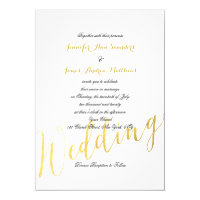 Faux Gold Foil Glamor | Wedding Invitation