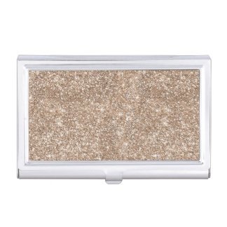 Faux Gold Foil Glitter Background Sparkle Template Business Card Case