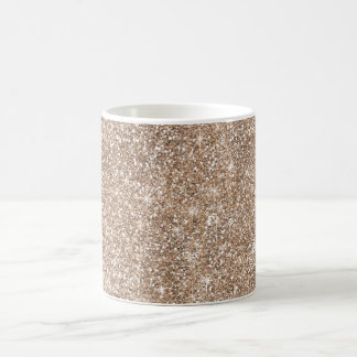 Faux Gold Foil Glitter Background Sparkle Template Coffee Mug