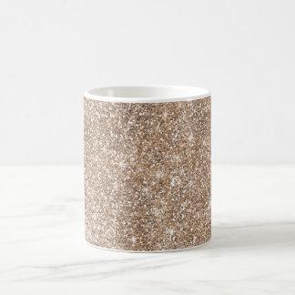 Faux Gold Foil Glitter Background Sparkle Template Coffee Mug