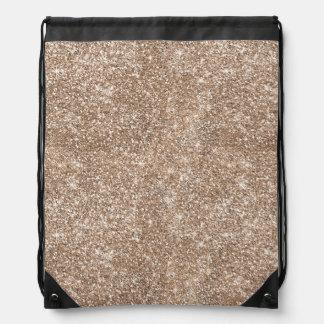 Faux Gold Foil Glitter Background Sparkle Template Drawstring Bag