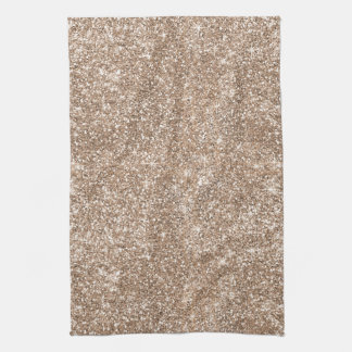 Faux Gold Foil Glitter Background Sparkle Template Hand Towel