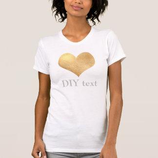 Faux Gold Foil, Heart Shirt