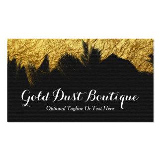 Faux Gold Foil Paint on Black - Gold Dust Boutique Business Card