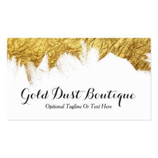 Faux Gold Foil Paint on White - Gold Dust Boutique Business Card