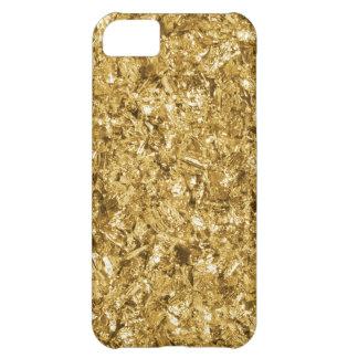 Faux Gold Foil Shavings Sparkle Pattern iPhone 5C Cover