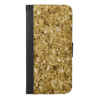 Faux Gold Foil Shavings Sparkle Pattern iPhone 6/6s Plus Wallet Case