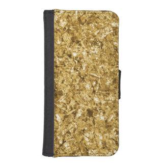 Faux Gold Foil Shavings Sparkle Pattern iPhone SE/5/5s Wallet