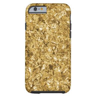 Faux Gold Foil Shavings Sparkle Pattern Tough iPhone 6 Case