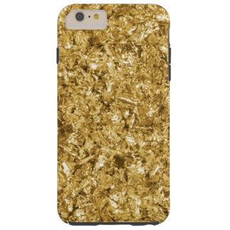Faux Gold Foil Shavings Sparkle Pattern Tough iPhone 6 Plus Case