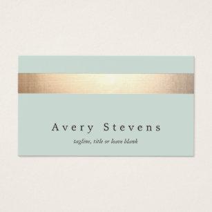 Esthetician business cards templates zazzle faux gold foil striped elegant light blue chic business card flashek Image collections