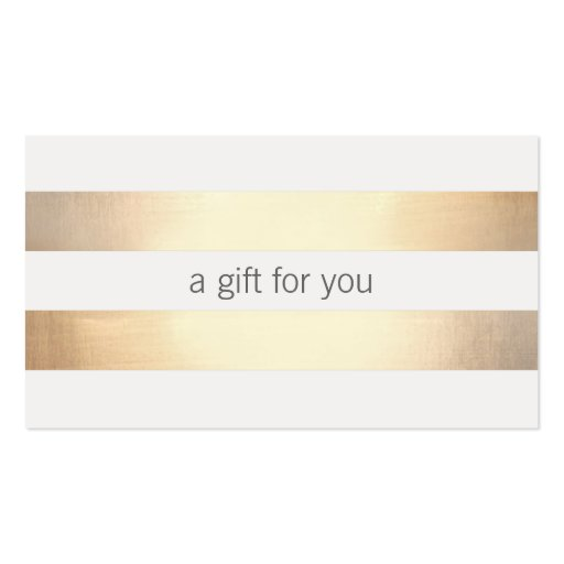 Faux Gold Foil Striped Retail Gift Card Double Sided