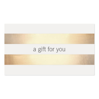 Faux Gold Foil  Striped Retail Gift Card Double-Sided Standard Business Cards (Pack Of 100)
