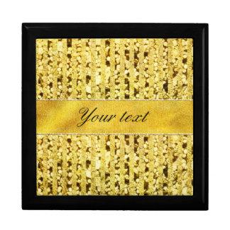 Faux Gold Foil Stripes and Confetti Gift Box