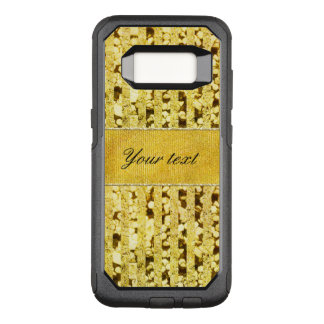 Faux Gold Foil Stripes and Confetti OtterBox Commuter Samsung Galaxy S8 Case